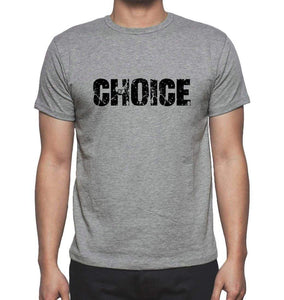 Choice Grey Mens Short Sleeve Round Neck T-Shirt 00018 - Grey / S - Casual