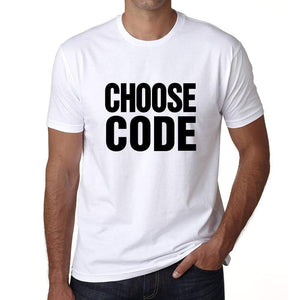Choose Code T-Shirt Mens White Tshirt Gift T-Shirt 00061 - White / S - Casual
