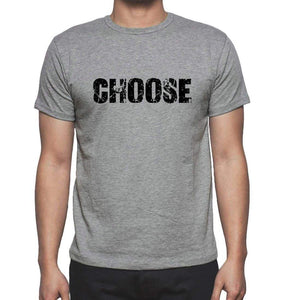 Choose Grey Mens Short Sleeve Round Neck T-Shirt 00018 - Grey / S - Casual