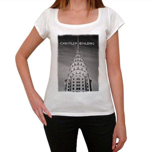 Chrysler Building Womens Short Sleeve Round Neck T-Shirt 00111