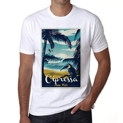 Cipressa Pura Vida Beach Name White Mens Short Sleeve Round Neck T-Shirt 00292 - White / S - Casual