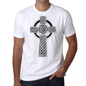 Circle Tribal Tattoo Mens White Tee 100% Cotton 00162