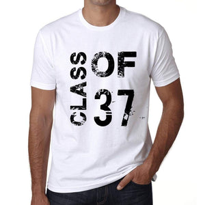 Class Of 37 Mens T-Shirt White Birthday Gift 00437 - White / Xs - Casual