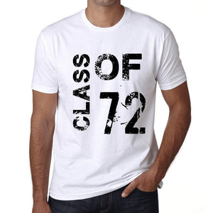 Class Of 72 Mens T-Shirt White Birthday Gift 00437 - White / Xs - Casual