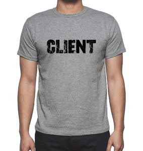 Client Grey Mens Short Sleeve Round Neck T-Shirt 00018 - Grey / S - Casual