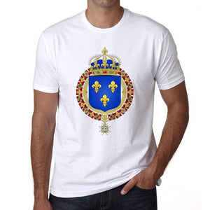 Coat Of Arms Of Kingdom Of France Mens Short Sleeve Round Neck T-Shirt 00170