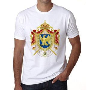 Coat Of Arms Second French Empire Mens Short Sleeve Round Neck T-Shirt 00170