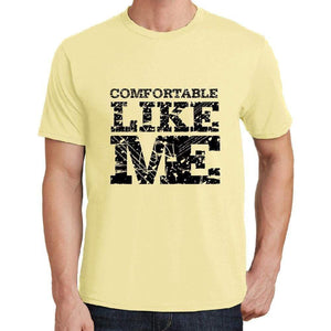 Comfortable Like Me Yellow Mens Short Sleeve Round Neck T-Shirt 00294 - Yellow / S - Casual