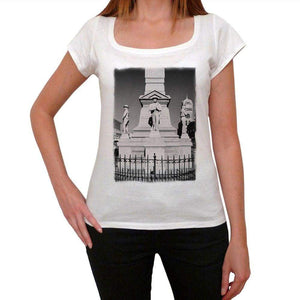 Confederate Monument Womens Short Sleeve Round Neck T-Shirt 00111