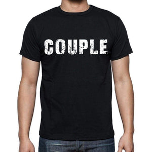 Couple White Letters Mens Short Sleeve Round Neck T-Shirt 00007