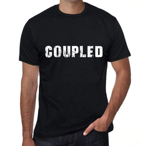 Coupled Mens Vintage T Shirt Black Birthday Gift 00555 - Black / Xs - Casual