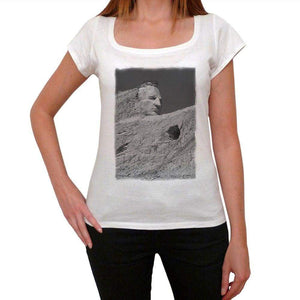 Crazy Horse Monument Womens Short Sleeve Round Neck T-Shirt 00111