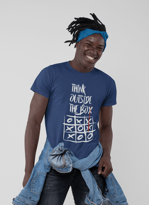 Ultrabasic - Homme T-Shirt Graphique Think Outside The Box Royal
