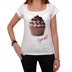 Cupcake Tiramisu Chocolate Womens Short Sleeve Scoop Neck Tee 00152