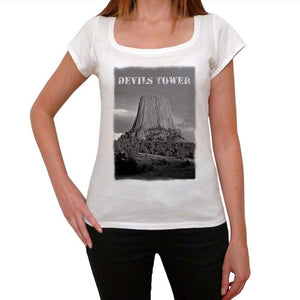 Devils Tower Womens Short Sleeve Round Neck T-Shirt 00111