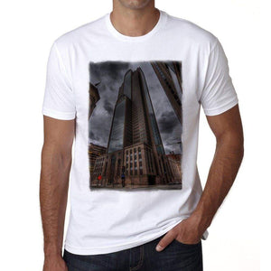 Downtown Dallas Mens Short Sleeve Round Neck T-Shirt