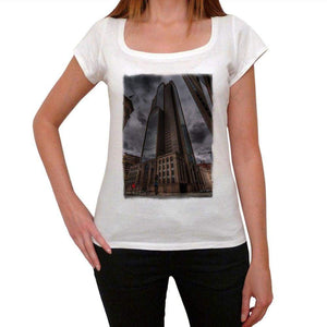 Downtown Dallas Womens Short Sleeve Round Neck T-Shirt 00111