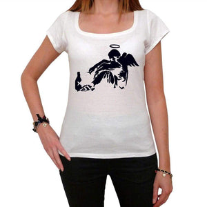 Drunk Angel Tshirt White Womens T-Shirt 00163