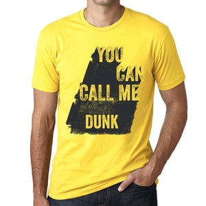 Dunk You Can Call Me Dunk Mens T Shirt Yellow Birthday Gift 00537 - Yellow / Xs - Casual
