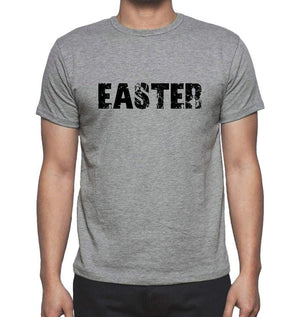 Easter Grey Mens Short Sleeve Round Neck T-Shirt 00018 - Grey / S - Casual