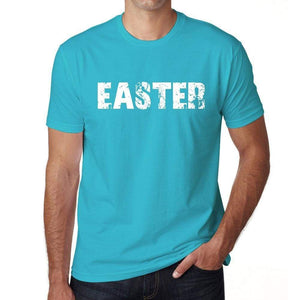Easter Mens Short Sleeve Round Neck T-Shirt 00020 - Blue / S - Casual