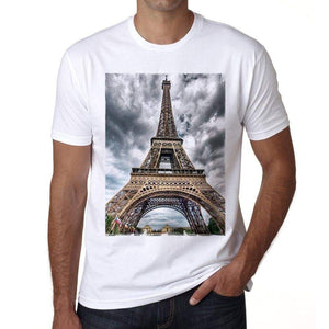 Eiffel Tower Mens Short Sleeve Round Neck T-Shirt 00170