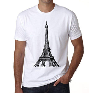 Eiffel Tower Png Mens Short Sleeve Round Neck T-Shirt 00170