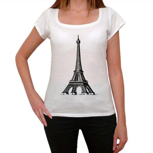 Eiffel Tower Png Womens Short Sleeve Scoop Neck Tee 00171