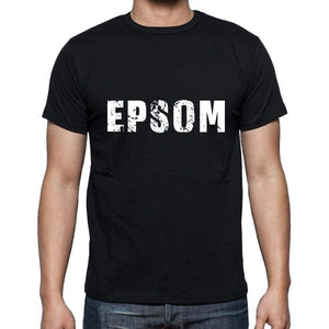 Epsom Mens Short Sleeve Round Neck T-Shirt 5 Letters Black Word 00006 - Casual