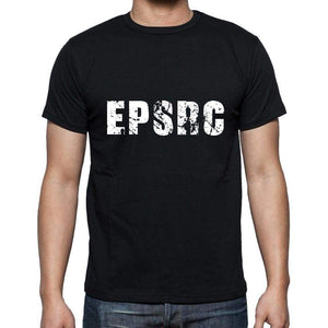 Epsrc Mens Short Sleeve Round Neck T-Shirt 5 Letters Black Word 00006 - Casual