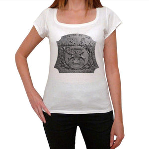 Erected By The State Of Michigan Womens Short Sleeve Round Neck T-Shirt 00111