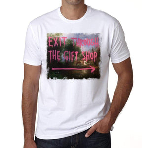 Exit Through The Gift Shop Mens Tee White 100% Cotton 00164