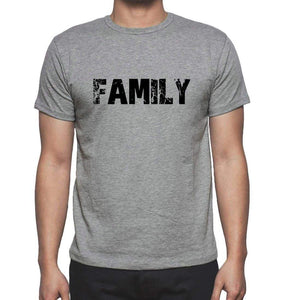 Family Grey Mens Short Sleeve Round Neck T-Shirt 00018 - Grey / S - Casual