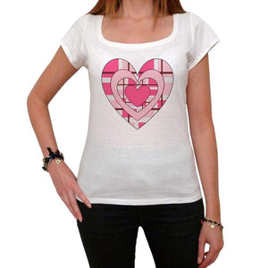 Fancy Valentine Heart Tshirt White Womens T-Shirt 00157