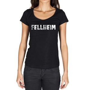 Fellheim German Cities Black Womens Short Sleeve Round Neck T-Shirt 00002 - Casual