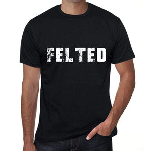 Felted Mens Vintage T Shirt Black Birthday Gift 00554 - Black / Xs - Casual
