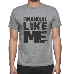 Financial Like Me Grey Mens Short Sleeve Round Neck T-Shirt 00066 - Grey / S - Casual