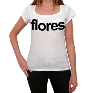 Flores Tourist Attraction Womens Short Sleeve Scoop Neck Tee 00072