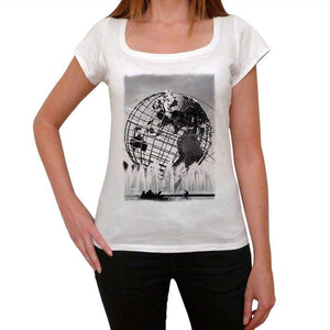 Flushing Meadows Corona Park United States Of America New York City Earth Womens Short Sleeve Round Neck T-Shirt 00111
