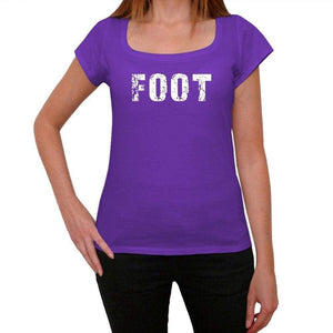 Foot Purple Womens Short Sleeve Round Neck T-Shirt 00041 - Purple / Xs - Casual