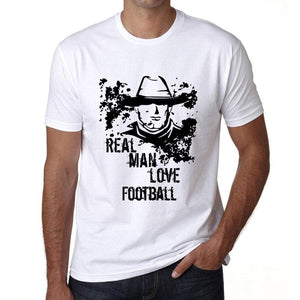 Football Real Men Love Football Mens T Shirt White Birthday Gift 00539 - White / Xs - Casual