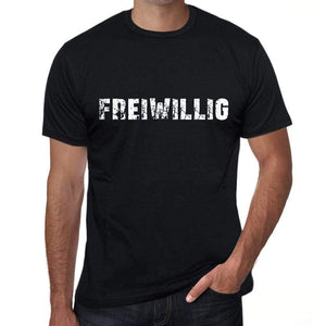 Freiwillig Mens T Shirt Black Birthday Gift 00548 - Black / Xs - Casual