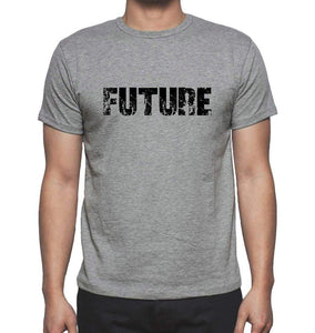 Future Grey Mens Short Sleeve Round Neck T-Shirt 00018 - Grey / S - Casual