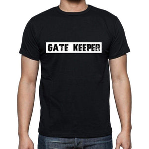 Gate Keeper T Shirt Mens T-Shirt Occupation S Size Black Cotton - T-Shirt