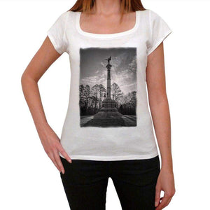 Georgia Monument-Man Womens Short Sleeve Round Neck T-Shirt 00111