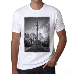 Georgia Monument Mens Short Sleeve Round Neck T-Shirt