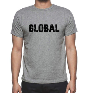 Global Grey Mens Short Sleeve Round Neck T-Shirt 00018 - Grey / S - Casual