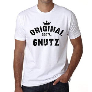Gnutz 100% German City White Mens Short Sleeve Round Neck T-Shirt 00001 - Casual