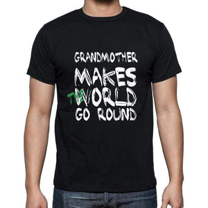Grandmother World Goes Round Mens Short Sleeve Round Neck T-Shirt 00082 - Black / S - Casual