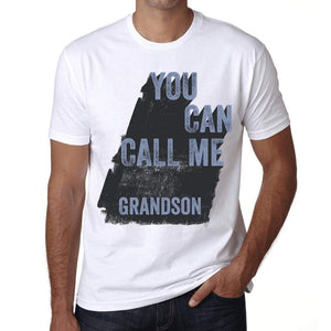 Grandson You Can Call Me Grandson Mens T Shirt White Birthday Gift 00536 - White / Xs - Casual